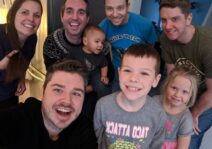 This is our family's best attempt at a selfie with the aunts, uncles, and cousins.