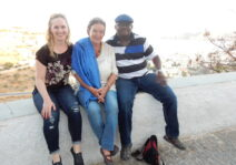 With Daniel's Step-Mom (Melissa's Mother-in-law) in Greece