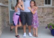 Brandon with his nieces