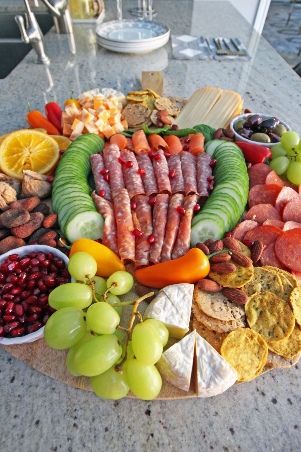 Our Charcuterie board when entertaining guests