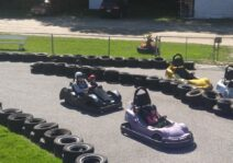 Rob and his nieces Go-cart racing.