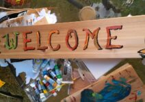 Jorge's creative skills - Always welcoming everyone into our home!