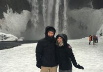 Us in Iceland in 2016 (we love to travel!)