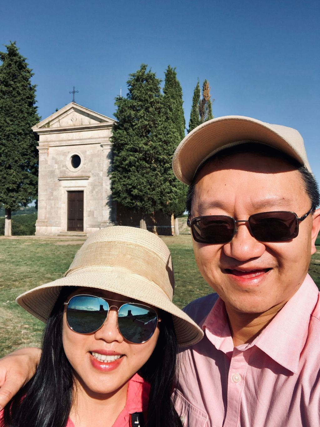 Anthony and Michelle in Tuscany