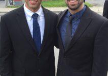 Brandon and Steven attending a wedding