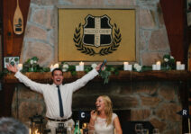 We were married on our dock and then celebrated at Kilcoo Camp