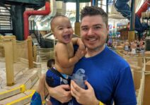 Visiting the Great Wolf Lodge where John & Theo both prefer the kiddie pool.
