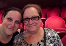 Mom and I at the theatre