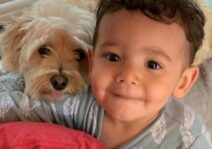 Asher with his Puppy, Harper!
