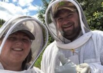 Learning how to do beekeeping.