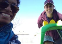 A curbside visit from our best friend Amanda and her little boy Tyler