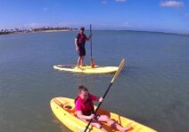 Steve out on the water with our niece in Dominican