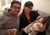 Meeting one of our new nieces (daughter of our beloved friends)