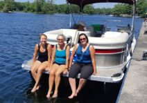 Boating with Lindsay's mom and sister.