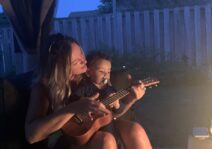 Singing songs with Auntie Chawny