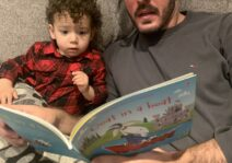 Asher loves to read