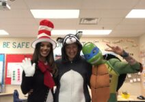 Halloween at Lindsay's school with some great friends.