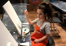 Mommy-daughter paint night