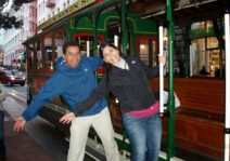 City sightseeing during our honeymoon