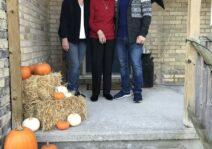 Matthew with his mom and grandma