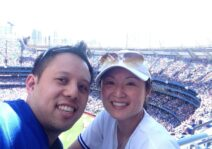 At a Blue Jays game cheering on our team