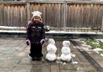 Snow time fun in our backyard