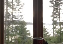 Enjoying the morning view at the cottage