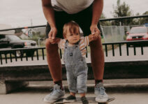 Skateboarding with Dad.