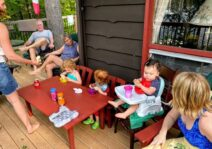 We love to spend time at our family cottage! Sandy toes and sticky fingers all around!