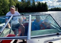 Grampa loves to take the grandkids out in the boat - fast or slow depending on the crew!
