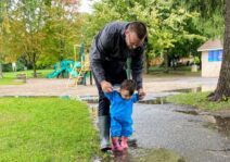 We love to spend time at the park - rain or shine!