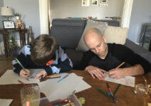 Drawing with our nephew