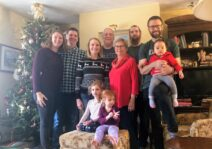 Kristie's family at Christmas - everyone would love to welcome a new family member!