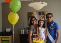 Celebrating one of our nieces (daughter of our beloved friends)