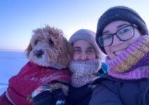 This is us on Christmas Day 2019 in Igloolik, Nunavut. Definitely our coldest Christmas!