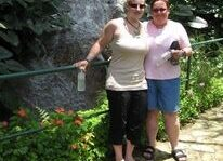 My mom and I in the carribean