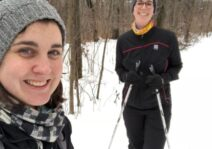 Cross country skiing at Mer Bleue, just a short drive from our home.