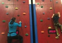 Anna rock climb racing with our nephew for his birthday!