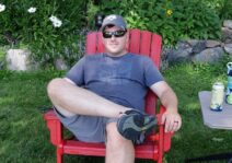 Relaxing at the cottage.