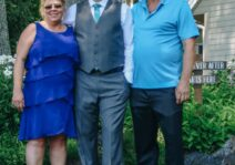 Rob with his mom and stepdad.