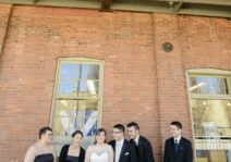 Some of our close friends on our wedding day