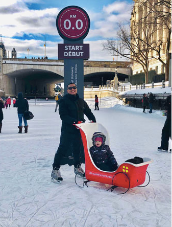 Adrian experiencing a very Canadian pastime on the Rideau Canal in Ottawa