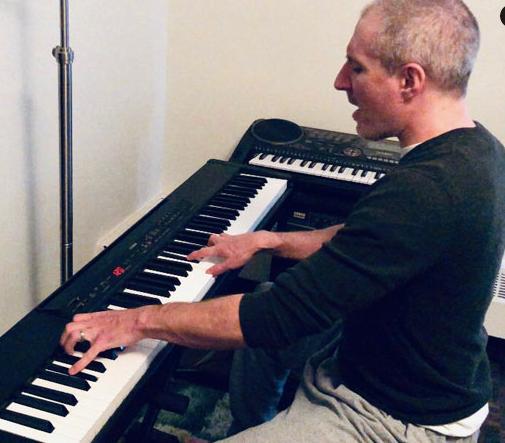 Rob rocks the keys at home