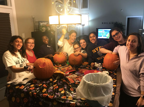 Our Annual Pumpkin Carving Party with family and Friends.