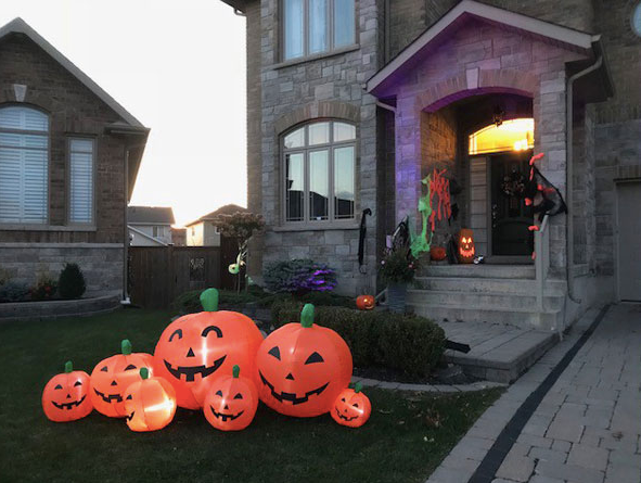 The Front of our House dressed up for Halloween. Ready to welcome many happy Trick-or-Trea