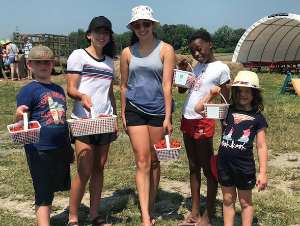 Summer Strawberry Picking with family and friends