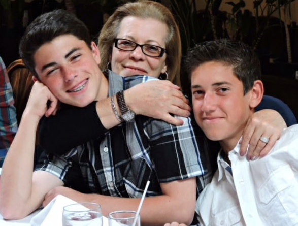 A special moment with Nonna (Grandmother in Italian)  with our son (Antonio) and Dom (Neph