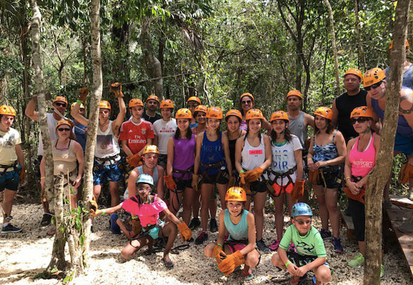 Adventure in Mexico with us, family and Friends. We are all going Zip Lining-Yeah!