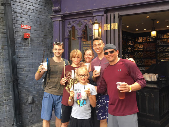 Universal Studio's Harry Potter World with Dee, Dan, Emma, & Caleb