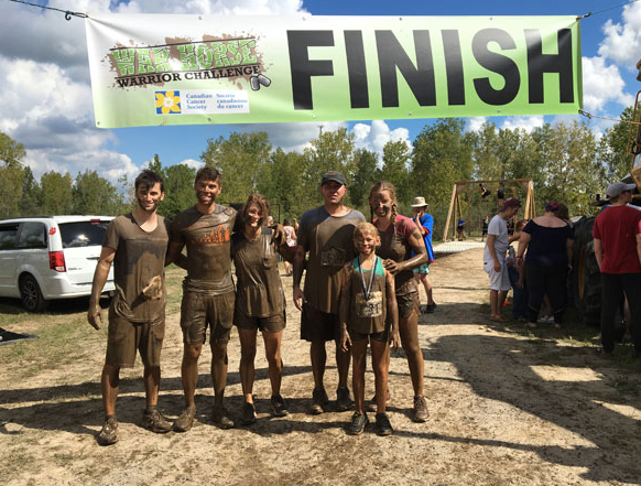 Mud run with Mark's Parents, Emma, and Dee